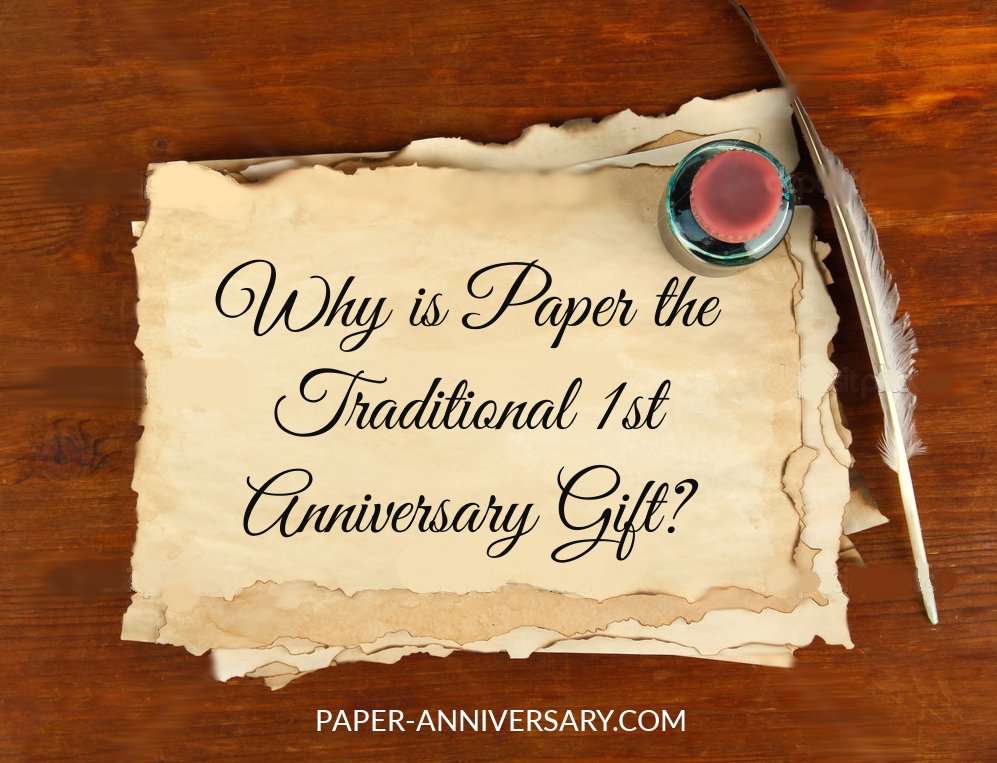 Why is paper the traditional first anniversary gift for Best marriage anniversary gifts