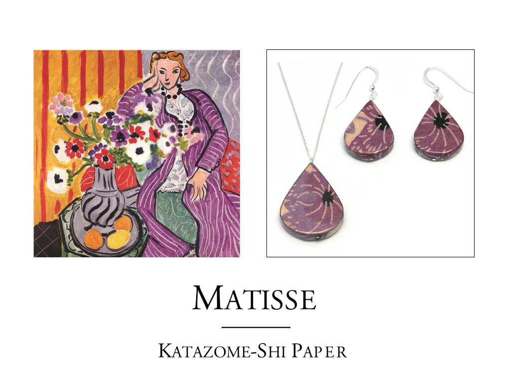 Matisse Inspired Paper Jewelry