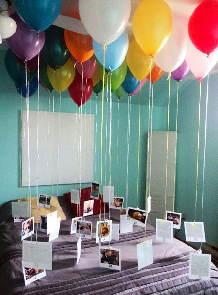 First Anniversary Gift Idea Balloon Photo Chandelier