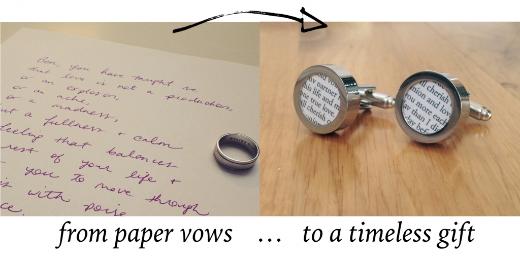 Wedding Vows Paper Anniversary Gift