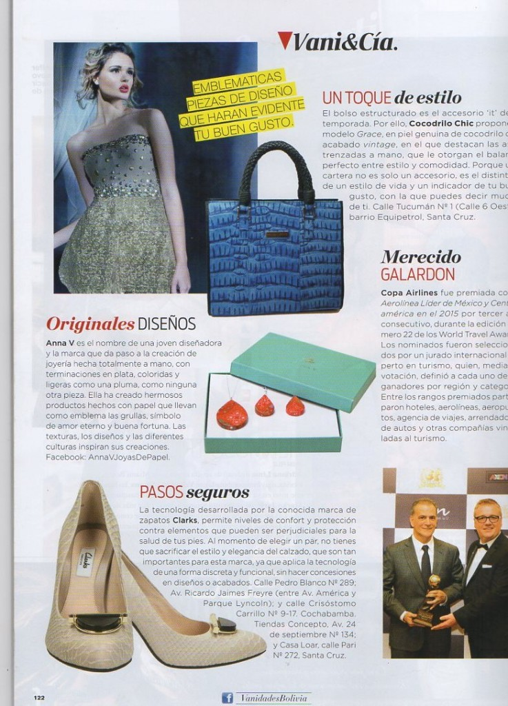 Paper Anniversary by Anna V featured in Vanidades fashion magazine