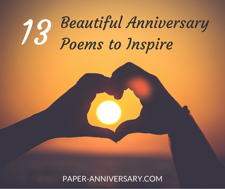 13 Beautiful Anniversary Poems to Inspire