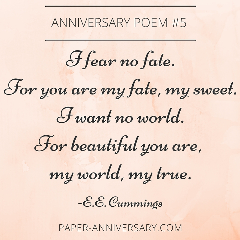 anniversary love poems