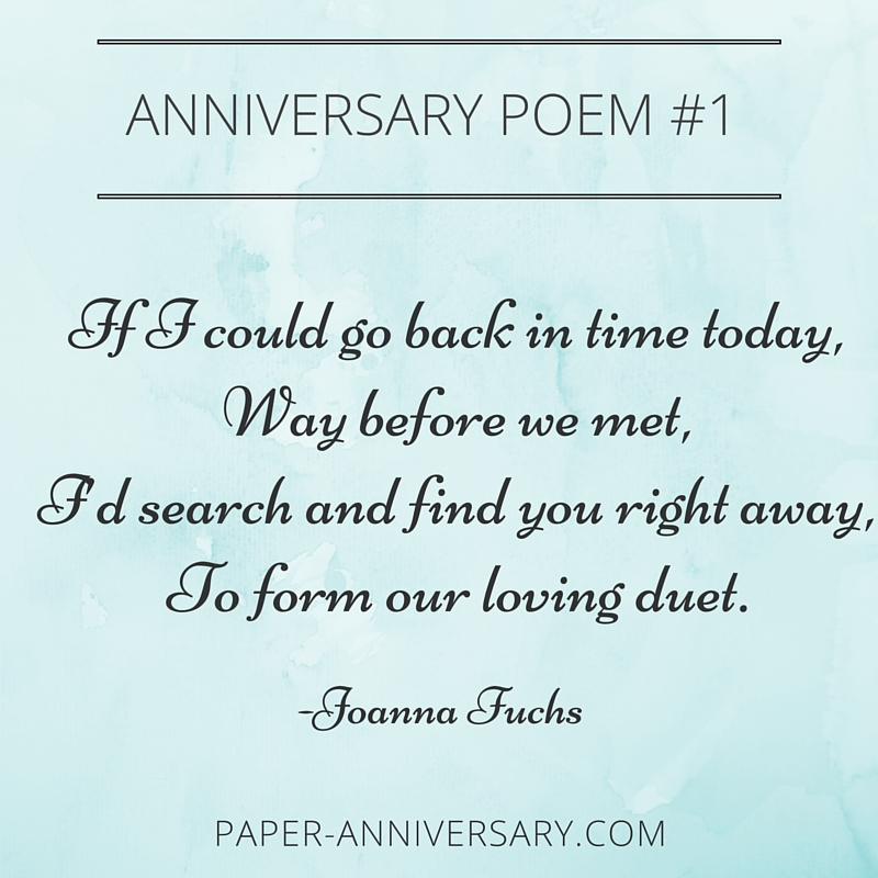 Anniversary Poems For Her