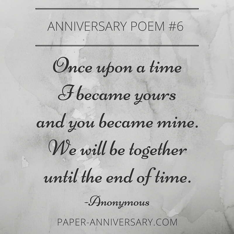 Anniversary Poems For Him