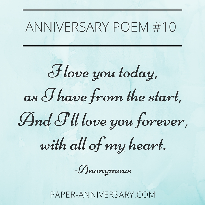 Epic anniversary poems for him readers favorites