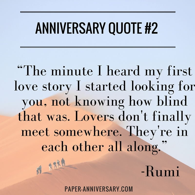 Quotes For Anniversary Entrancing 20 Perfect Anniversary Quotes For Him  Paper Anniversaryanna V.