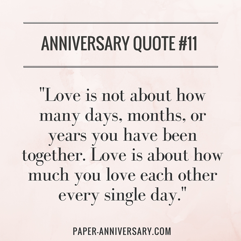 Love Quote For Him Classy 20 Perfect Anniversary Quotes For Him  Paper Anniversaryanna V.