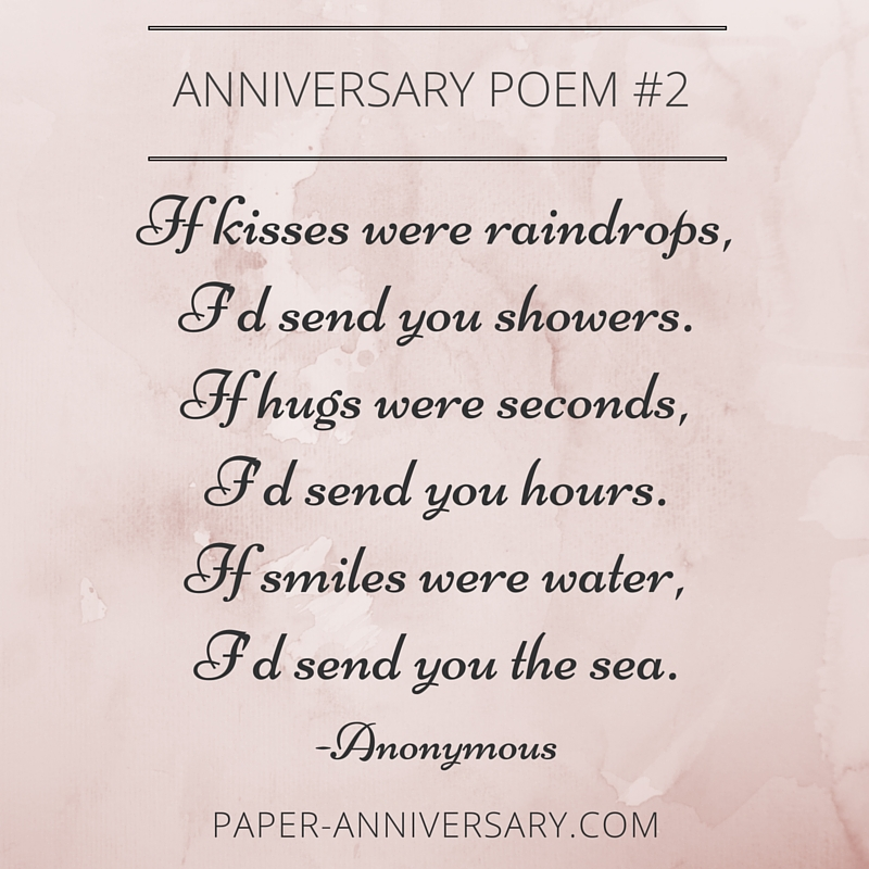 13 Beautiful Anniversary Poems to Inspire - Paper ...