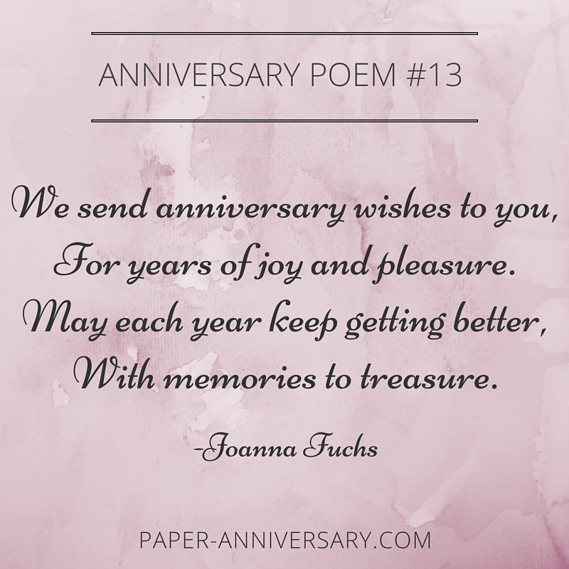romantic anniversary poems
